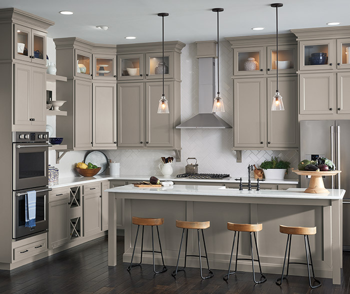 Grey Kitchen Cabinets: Gray Kitchen With Laminate Cabinets