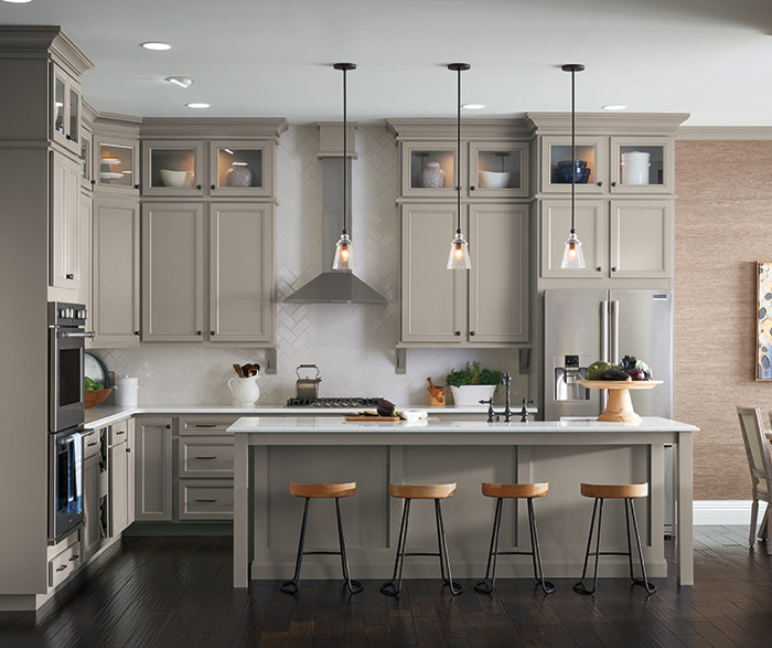 Gray Kitchen with Laminate Cabinets