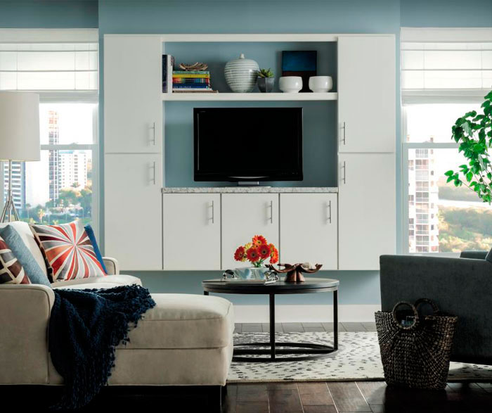 Living Room Cabinet in Painted White