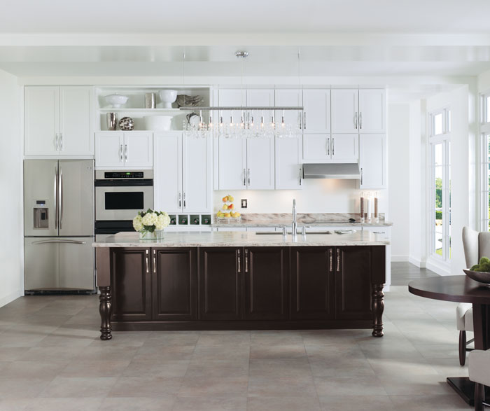 Painted White Kitchen Cabinets By Aristokraft Cabinetry ...