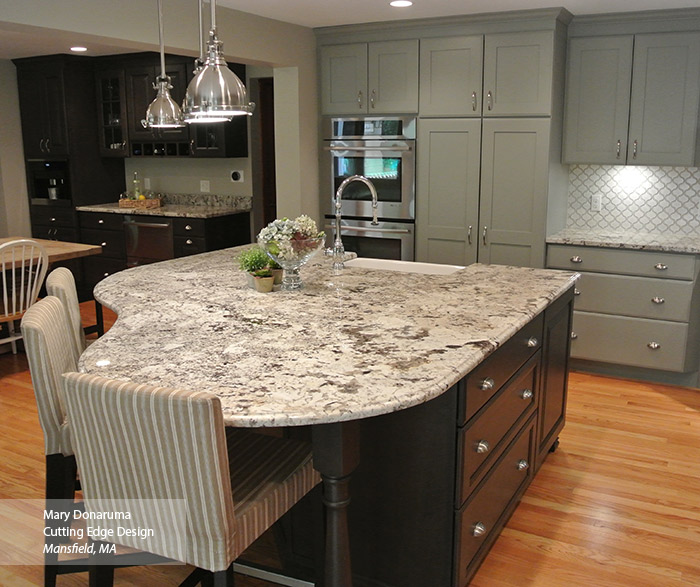 Open Kitchen Design With Dry Bar Area