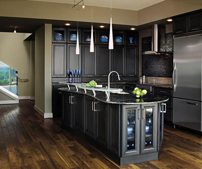 Embracing Darkness The Beauty Of The Black Kitchen: Dark Grey Kitchen Cabinets