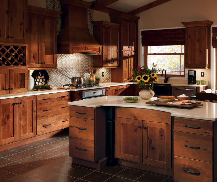 Rustic Hickory Kitchen Cabinets - MasterBrand