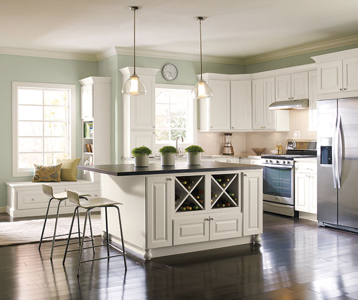 Off White Painted Kitchen Cabinets In