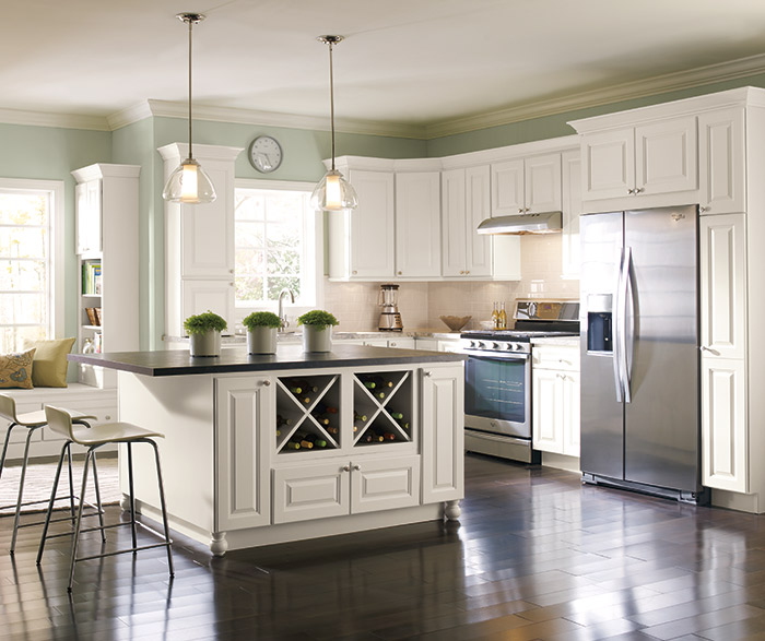 montella off white painted kitchen cabinets in french vanilla - Kitchen In French