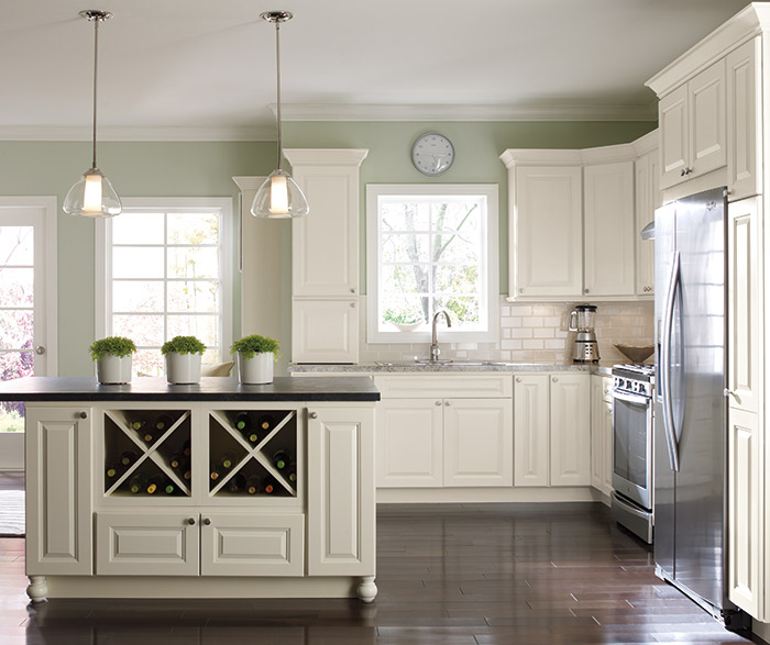 ... Montella Off White Painted Kitchen Cabinets In French Vanilla ...