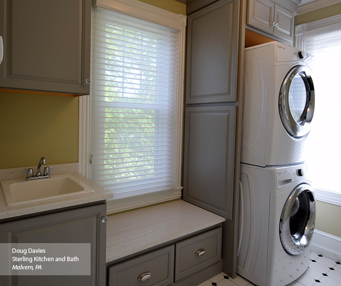 Gray Laundry Room Cabinets