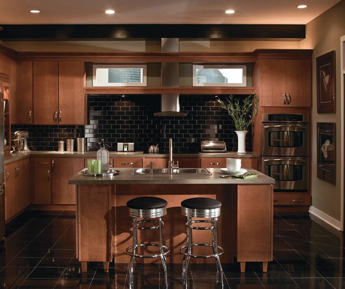 Contemporary Maple Kitchen Cabinets