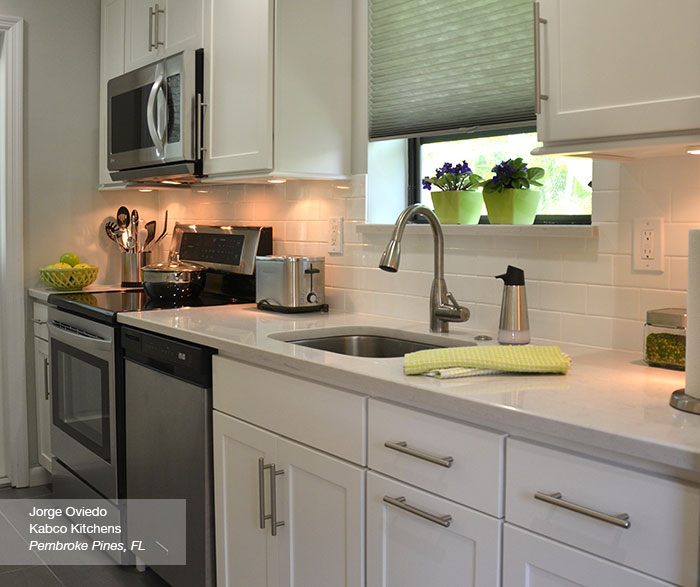Kitchen Gallery Reviews: White Shaker Style Cabinets In A Galley Kitchen