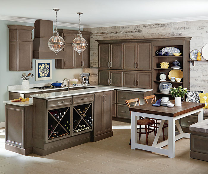 Gray Cabinets In A Casual Kitchen