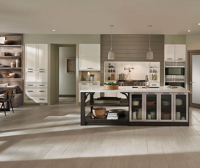 Casual Open Kitchen Design By Kitchen Craft Cabinetry ...