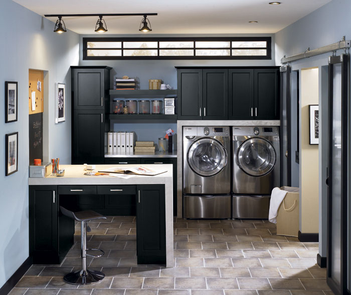 Lexington maple black by Kitchen Craft Cabinetry
