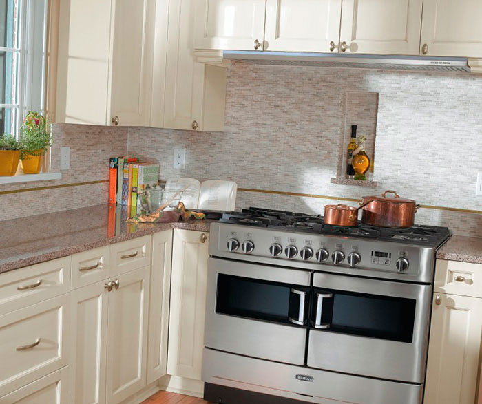 Off White Cabinets in a Casual Kitchen MasterBrand