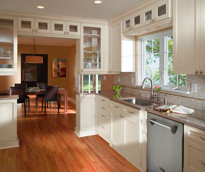 Off White Cabinets In Casual Kitchen By Craft Cabinetry