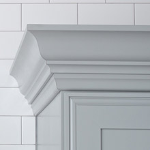 Light gray crown moulding