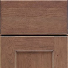 Close-up of a full overlay cabinet door