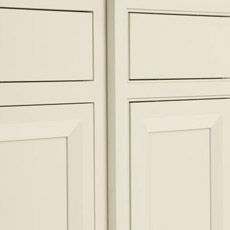 Two inset cabinet doors side-by-side