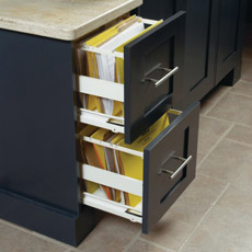 File drawer cabinet in home office