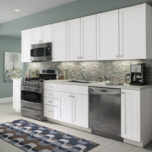 Superieur Aristokraft Stock Kitchen Cabinets In White Laminate