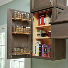 Wall Easy Access Storage Cabinet with door open to show interior storage