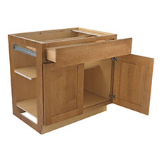 Cabinet without side and top to show box construction