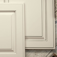Cabinet doors with penned glazing