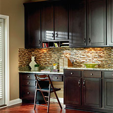 Kitchen desk cabinetry