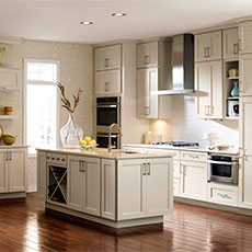 Casual kitchen with island cabinets