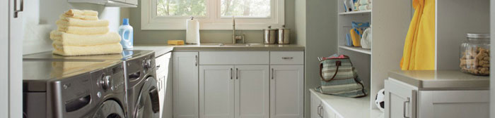 Create a laundry room design that