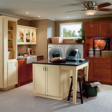 Laundry room with island work surface