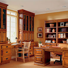 Bring a look of luxury to your executive office cabinets with MasterBrand cabinetry.