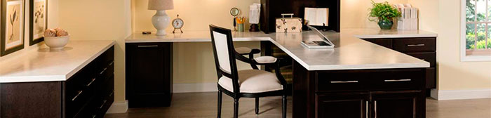 Our home office cabinetry solutions let you customize any space to work for you.