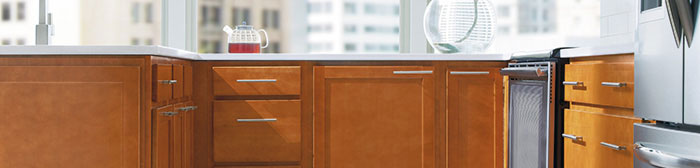 Birch cabinets in a contemporary kitchen by MasterBrand