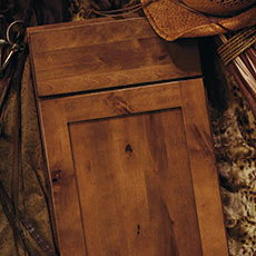 Rustic birch cabinet door from MasterBrand