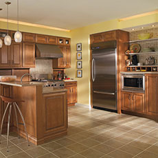Maple kitchen cabinets from MasterBrand