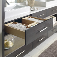 Vanity U-shaped drawer