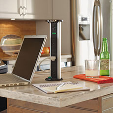 Incorporate electrical devices and technology into your kitchen design.