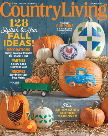 Cover of Country Living's October 2016 issue