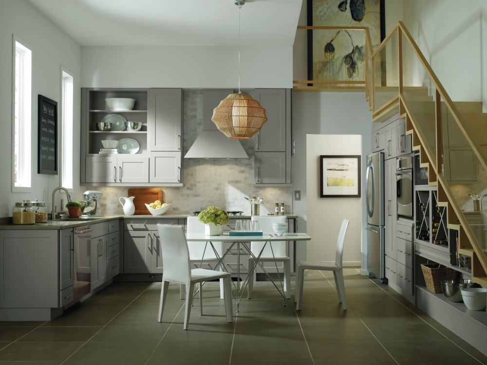 Gray cabinet color trend from MasterBrand Cabinets featured in Kitchen & Bath Design News