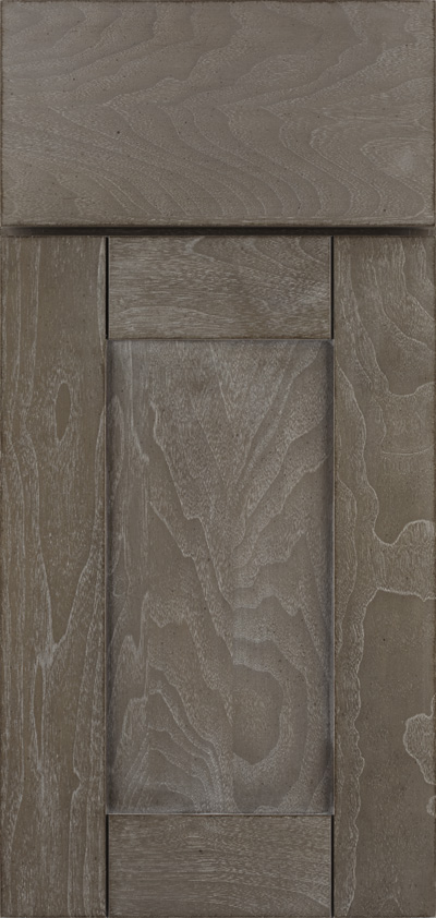 Omega's Madrid cabinet door in a cerused finish