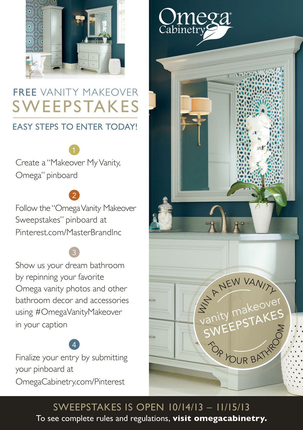 Free Bathroom Vanity Makeover Sweepstakes – MasterBrand