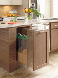 Touchless Trash & Recycling Cabinet by Omega Cabinetry