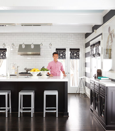 Vern Yip in his black and white Omega kitchen