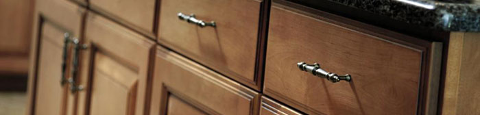 Visit a kitchen showroom to look at cabinetry displays and speak with a kitchen designer.