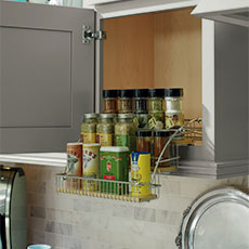 Cabinet organization option for kitchen remodeling project