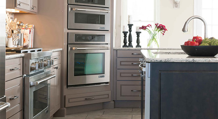 Oven Cabinet by Diamond keeps the kitchen organized & efficient