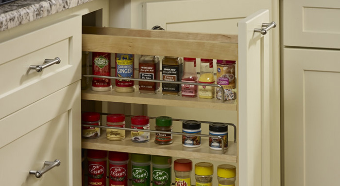 Spice rack pullout cabinet by Homecrest>