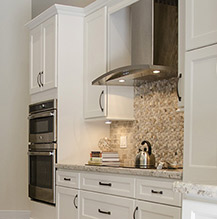Kitchen remodel with off white cabinets
