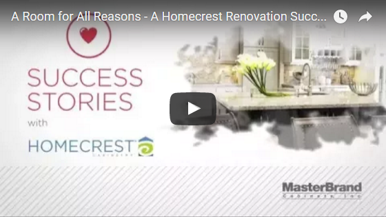 Title slide from A Room for All Reasons renovation success story video>
