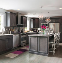 Gray kitchen design with Decora cabinets